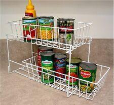 Sliding Drawer Organizer Pantry Storage Cans Kitchen Laundry Bathroom Fridge