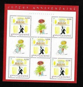 Bloc-Feuillet-2004-N-75-Timbres-France-Neufs-Joyeux-Anniversaire