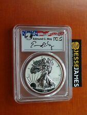 2011 P REVERSE PROOF SILVER EAGLE PCGS PR70 EDMUND MOY SIGNED ULTRA LOW POP 33!