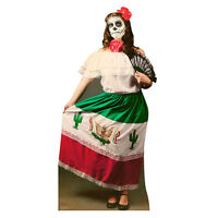 Day Of The Dead Woman Lifesize Cardboard Cutout Standup Standee Dia De Muertos