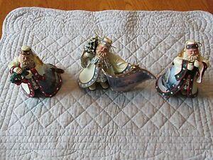 Thomas Kinkade's Old World Santa Ornaments (Set of 3 ...