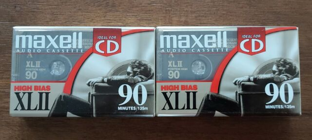 2 new! SEALED MADE IN JAPAN MAXELL HIGH BIAS XLII 90 MINUTE AUDIO CASSETTE