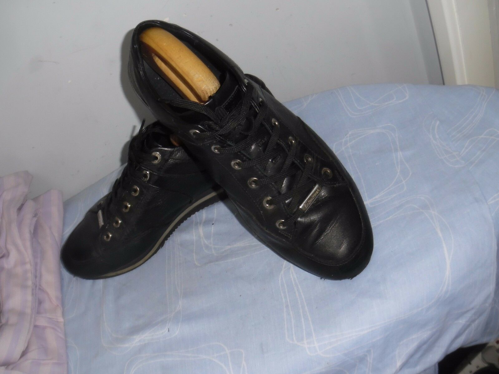 Herren LACE-UP ZEGNA SPORT BLACK LEATHER LACE-UP Herren Schuhe SIZE UK 12 803541