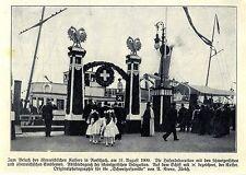 Zum Besuch des österreichischen Kaisers in Rohrschach Die Hafendekoration...1909