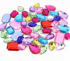 25 x Brightly Coloured 3D Jewels Acrylic Multi-Faceted Rhinestone DIY Decoden
