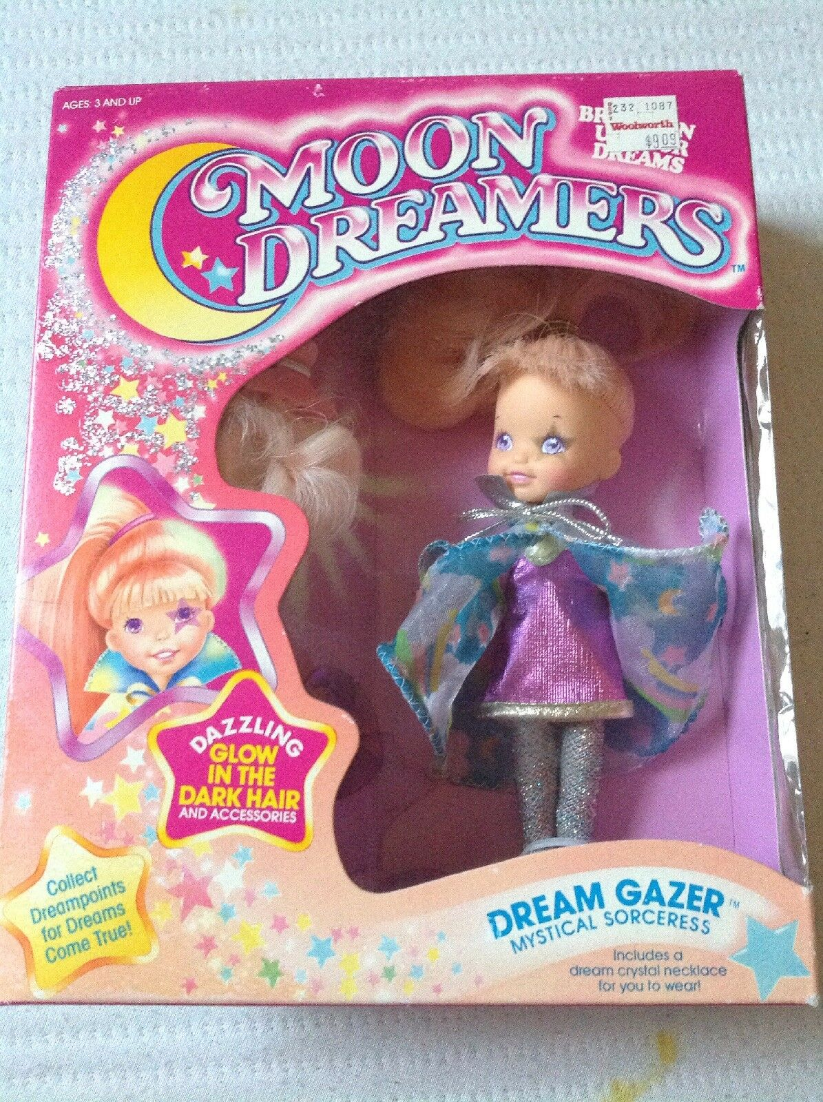 Hasbro Moon Dreamers Dream Gazer With Dream Tail Doll Box has wear ON SALE
