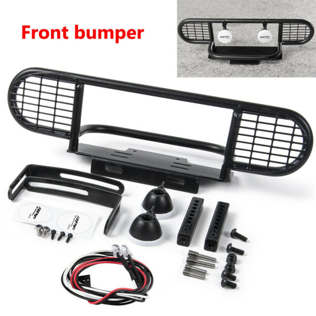 Xtra Speed Metal Front Bumper w//Winch Mount /& Led Light For D90 D110 #XS-59728