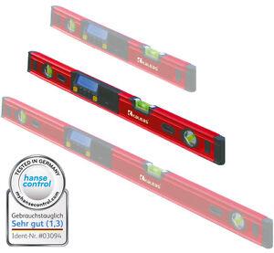 Kaleas-LIVELLA-DIGITALE-70cm-inclinazione-COLTELLO-Alluminio-con-protezione-Borsa