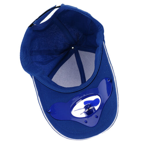 2pcs// Set Red Blue Outdoor Sport Hat Cap with Solar Power Cooling Cool Fan