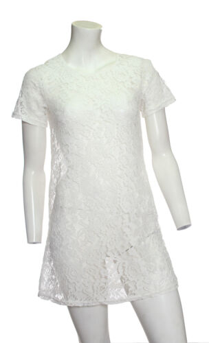 NEW Ladies Ex New Look White Lace  Dress-Tunic