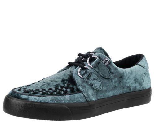 TUK A9214 Icy Blue Crushed Velvet Creeper Sneaker Women/'s