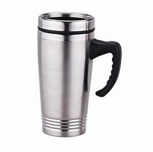 Image Is Loading New 16oz Stainless Steel Coffee Cup With Handle