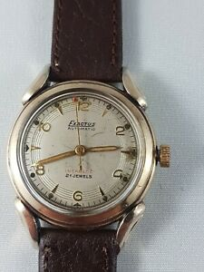 Exactus Automatic 21j men's  watch. Nice working collector watch !