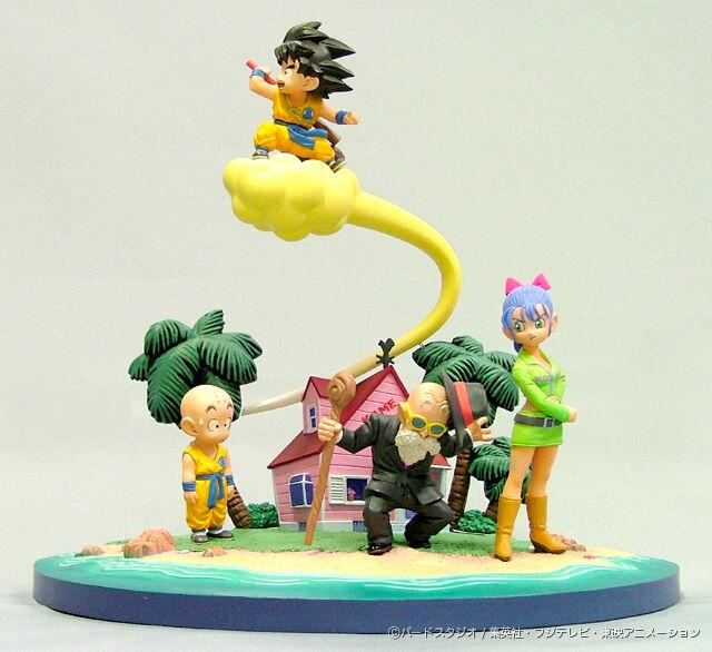 Dragon Ball Diorama (DVD Gift Vol.1)  Goku, Master Roshi, Krillin, Figure Set