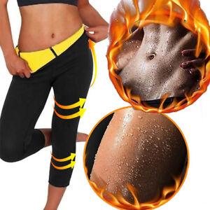 7825a8ed63d92 Women Gym Sweat Thermo Body Shaper Tummy Control Thigh Slimmer Yoga ...