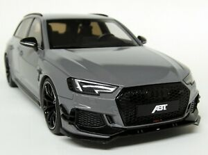 GT-Spirit-1-18-Scale-ABT-Audi-RS4-Avant-Nardo-Grey-Resin-Model-Car