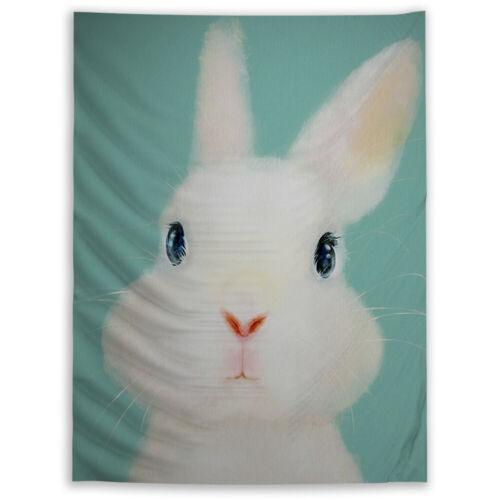 Rabbit Animal Wandteppich Kunst Wandbehang Tisch Bettdecke Wohnkultur
