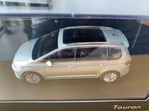 NOREV VW Touran 1:43 Voiture Miniature Argent Métallique Neuf dans sa boîte publicitaire Modèle