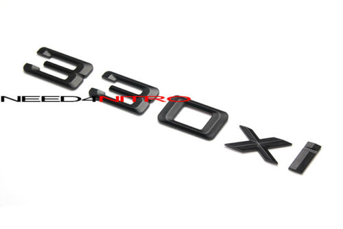 For BMW E46 E90 330xi Matte Flat BLK Rear Trunk Letter Emblem Sticker Decal 5pcs