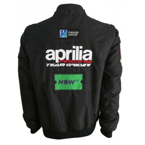 2018 Equipo Oficial Gresini Aprilia Moto GP Cremallera Chaqueta Con Capucha-A1GBXX18REM