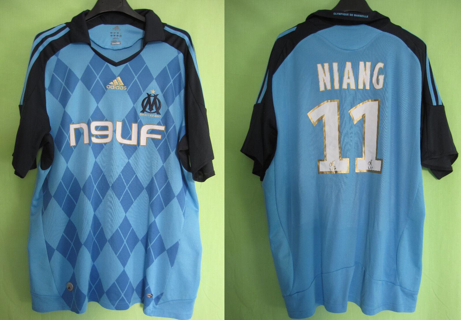 Maillot Olympique Marseille 2008 Adidas shirt Niang  11 OM Neuf Telecom  XL