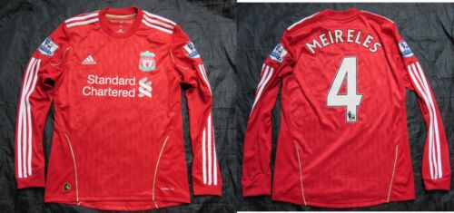 Raul Meireles #4 The Reds FC LIVERPOOL LONG SLEEVE shirt ADIDAS 20102010 SIZE S