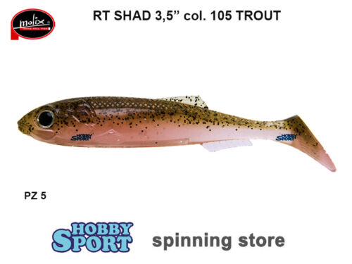 """RT SHAD 3,5/"""" MOLIX  COLORE 105 TROUT CONF 5 PZ SPINNING"""