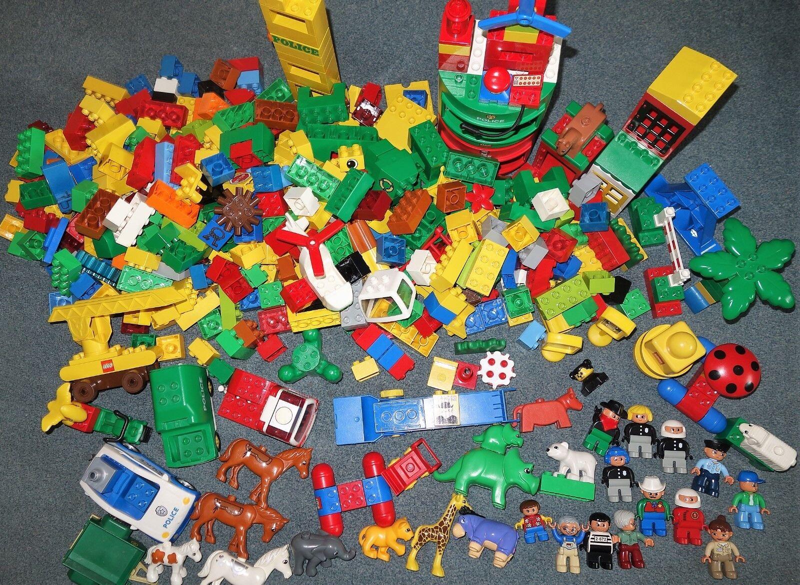Lego DUPLO ca. 6 Kg gemischt Steine Figuren Autos Tiere Set alle Farben