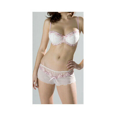 Frillys By Panache Sheer Ivory//Mint//Pink Louise String Sided Thong