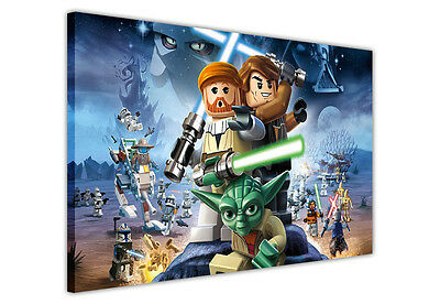 STAR WARS POP ART LEGO CANVAS WALL ART / PRINTS / PICTURES ICONIC MOVIE POSTERS