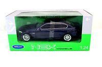Welly Bmw 535i Blue In Box 1/24 Diecast Cars 24026w-bl