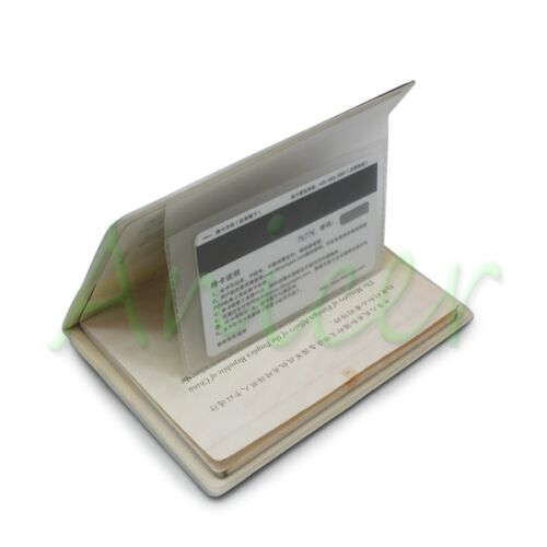 PVC Identity Card Passport Holder Protect Cover CASE For Travel Journey Black
