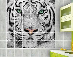 Sticker carrelage mural faience d co cuisine ou salle de bain tigre r f 826 ebay - Stickers pour faience cuisine ...