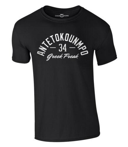 Greek Freak T-Shirt Antetokounmpo 34 Basketball Jersey Giannis Bucks MVP Trikot