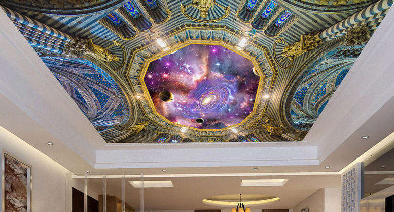 lila Dreamt Jewel Full Wall Mural Photo Wallpaper Print 3D Ceiling Decor Home