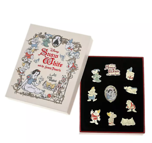 Disney Store Japan Snow White and the Seven Dwarfs Collected Pin Badge Set 2021