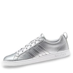 Details zu adidas VS Advantage Damen Sneaker low Halbschuh Schnürschuh Sport Schuhe silber