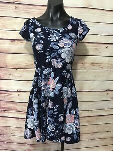 AEROPOSTALE-Size-XS-Blue-Floral-Sleeveless-Dress-Fitted-Comfort-Wear