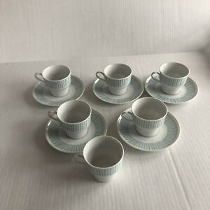 Paul-McCobb-Cups-And-Saucers-6-Cups-With-5-Saucers