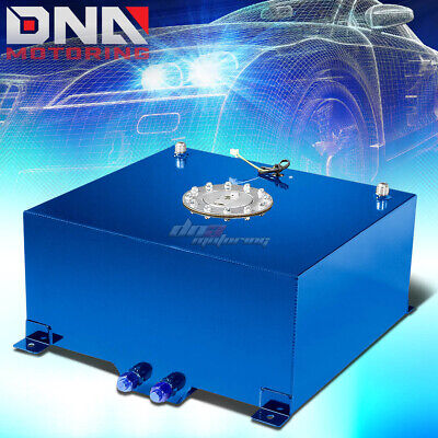 15.5 GALLON//59L RED ALUMINUM RACING//DRIFT FUEL//GAS CELL TANK+CAP+LEVEL SENDER