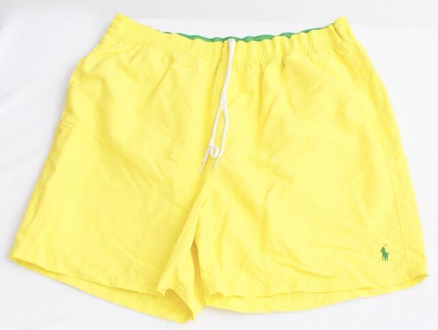 53a758e7976 ... sale polo ralph lauren yellow nylon brief lined swim trunks swim shorts  mens nwt b0d0c a4ee4