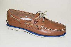 Timberland-CLASSIC-2-EYE-Boat-Shoes-Segelschuhe-Deckschuhe-Herren-Schuhe-NEU