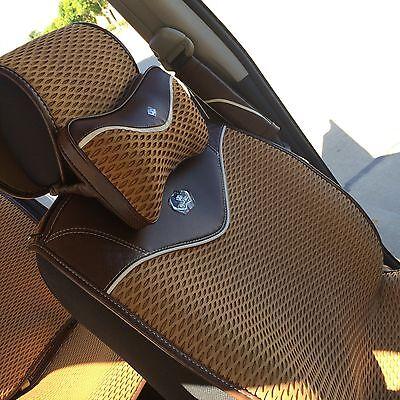 Contemplativo Coprisedile Pomello Del Cambio Volante Cuscino Marrone Chiaro Panno 3d Design Ultima Moda
