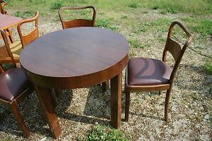 alter runder tisch mit 3 st hlen ebay. Black Bedroom Furniture Sets. Home Design Ideas