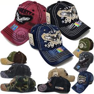 Belle Vintage American Eagle Hat Usa Drapeau Hommes Femmes Effet Vieilli Baseball Patriotique Cap-afficher Le Titre D'origine