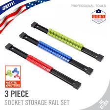 HORUSDY 94230 Socket Holder Rail Organiser Rack - 6 Piece