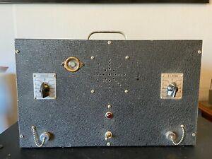 Antik-1950s-Roehrenverstaerker-fuer-Gitarre-Amp-Rebuild-mit-Case-unglaublich-Steampunk