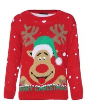 UGLY CHRISTMAS SWEATER womens ladies size medium large m l tacky REINDEER NWT