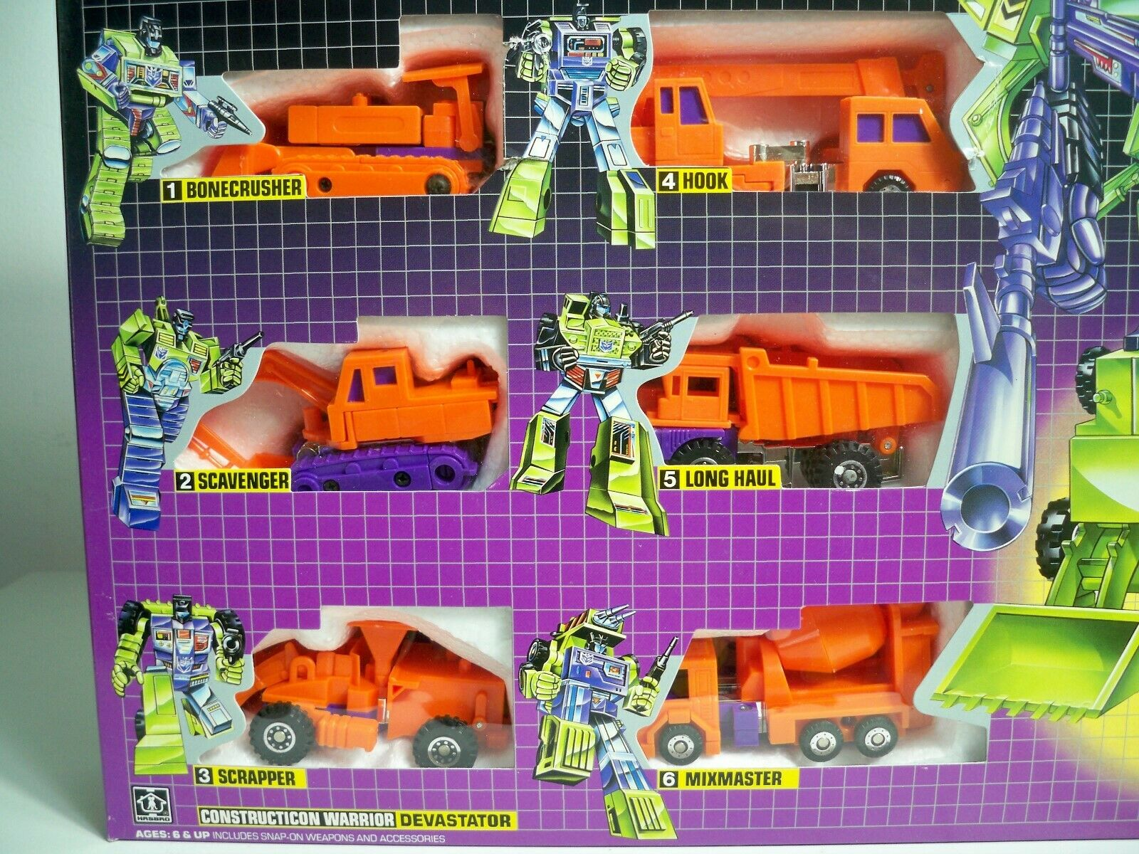 K1900001 DEVASTATOR CONSTRUCTICONS Orange GIFT SET MISB REISSUE G1 TRANSFORMERS