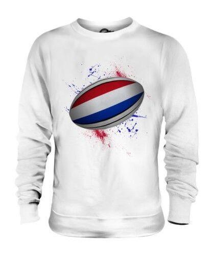 Holland Rugbyball Splatter Unisex Pullover Top Geschenk Weltmeisterschaft Sport